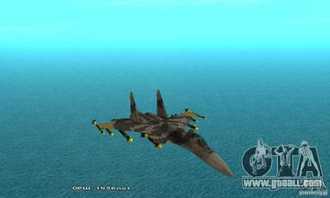 Su-37 Terminator for GTA San Andreas upper view