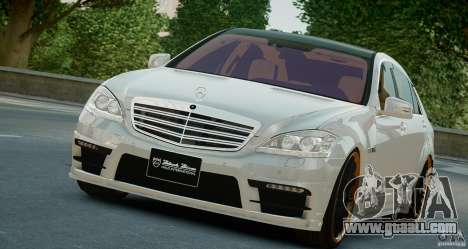 Mercedes-Benz S Class W221 Black Bison 2009 for GTA 4