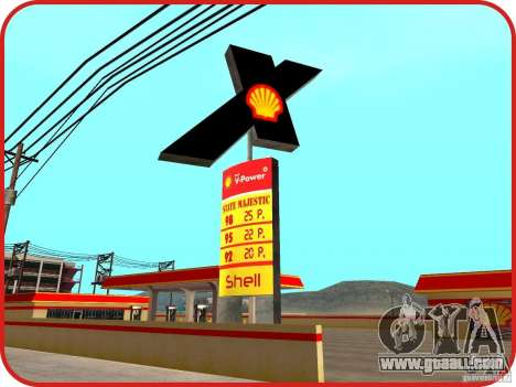 New Shell gas station for GTA San Andreas