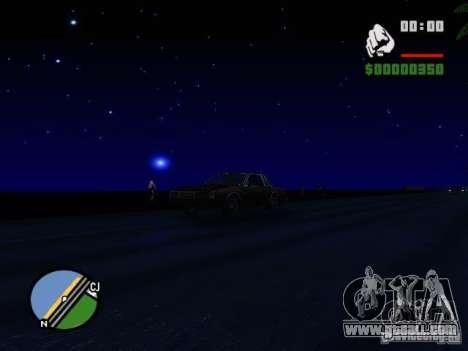 Starry sky V 2.0 (single player) for GTA San Andreas forth screenshot