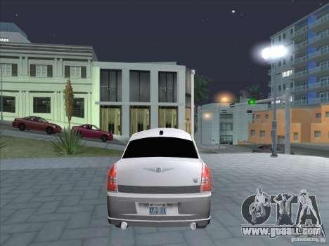 Chrysler 300C Limo for GTA San Andreas back left view