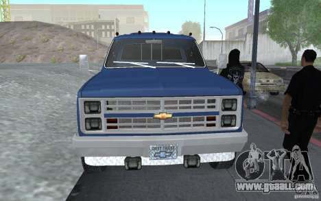 Chevrolet Silverado 3500 for GTA San Andreas right view