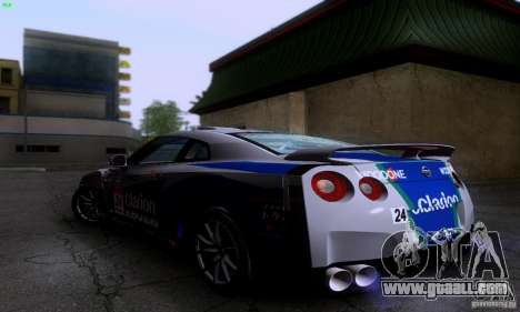 Nissan GTR R35 Tuneable for GTA San Andreas back view