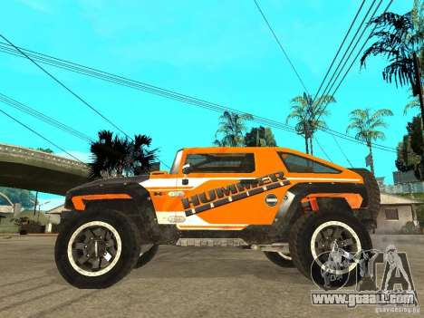 Hummer HX Concept from DiRT 2 for GTA San Andreas left view