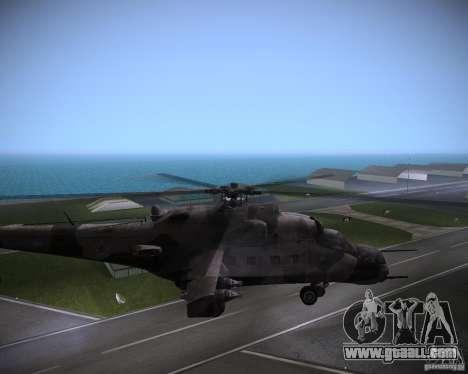 Mi-35 for GTA Vice City right view