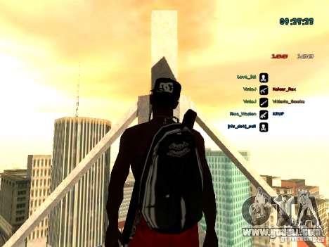 Knapsack-parachute for GTA: SA for GTA San Andreas