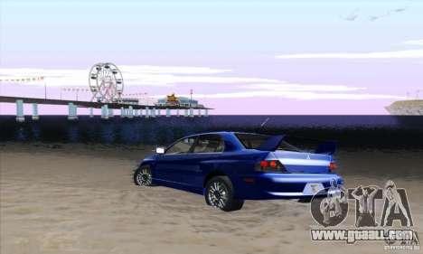Mitsubishi Lancer Evolution 9 MR Edition for GTA San Andreas right view