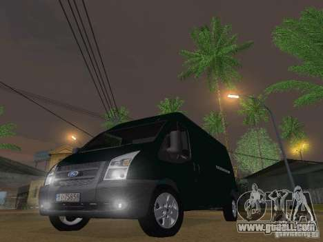 Ford Transit 350L for GTA San Andreas back left view