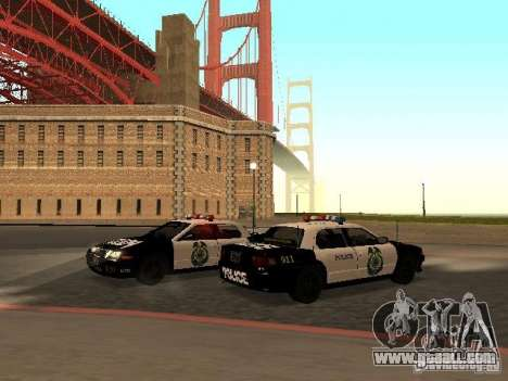 Police Civic Cruiser NFS MW for GTA San Andreas back left view