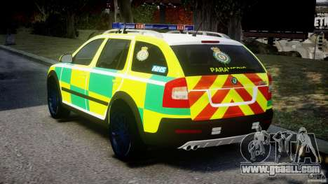 Skoda Octavia Scout Paramedic [ELS] for GTA 4 back left view