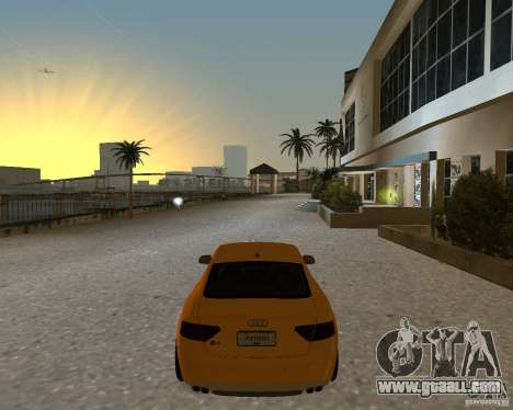 Audi S5 for GTA Vice City back left view