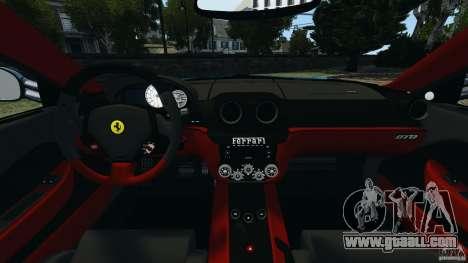 Ferrari 599 GTO 2011 for GTA 4 back view