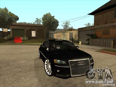 Audi A8 Tuned for GTA San Andreas back view