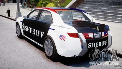 Carbon Motors E7 Concept Interceptor Sherif ELS for GTA 4 side view