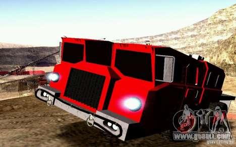 Maz-7310 Civil Narrow Version for GTA San Andreas upper view