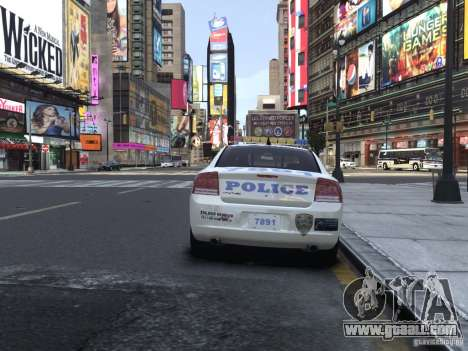 Dodge Charger NYPD for GTA 4 right view