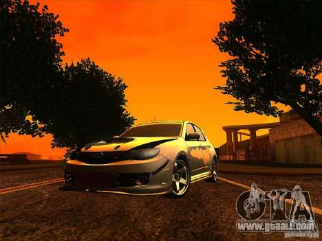 Subaru Impreza WRX 2008 Tunable for GTA San Andreas