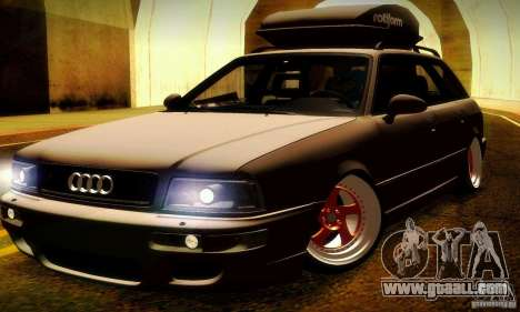 Audi RS2 Avant Thug for GTA San Andreas upper view