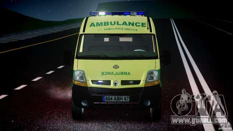 Renault Master 2007 Ambulance Scottish for GTA 4 interior