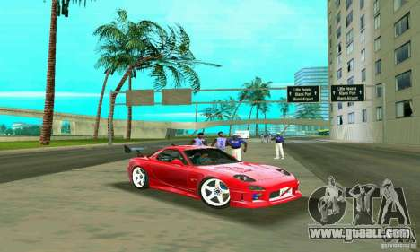Mazda RX7 Charge-Speed for GTA Vice City upper view