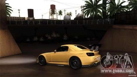 Honda S2000 JDM for GTA San Andreas back view