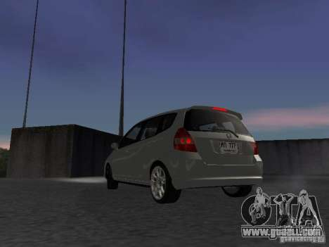 Honda Fit for GTA San Andreas back left view
