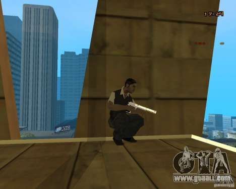 Chrome Desert Eagle for GTA San Andreas second screenshot