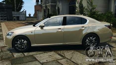 Lexus GS350 2013 v1.0 for GTA 4 left view
