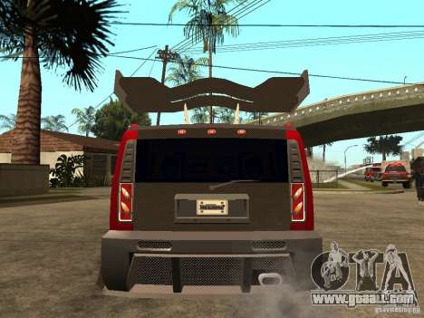 Hummer H2 NFS Unerground 2 for GTA San Andreas back left view