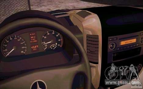Mercedes Benz Sprinter 311 CDi for GTA San Andreas back view
