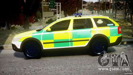 Skoda Octavia Scout Paramedic [ELS] for GTA 4 left view
