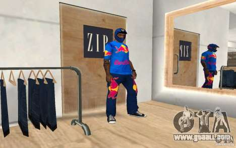 Red Bull Clothes v2.0 for GTA San Andreas