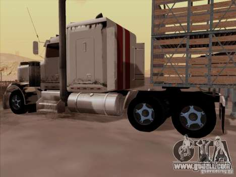 Kenworth W 900 RoadTrain for GTA San Andreas back view