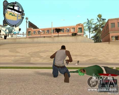 Real Weapons Drop Mod beta for GTA San Andreas second screenshot