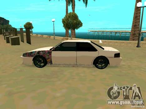 New Sultan v1.0 for GTA San Andreas back view