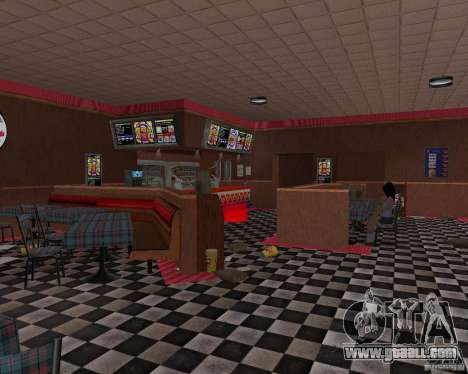 New textures of eateries and shops for GTA San Andreas