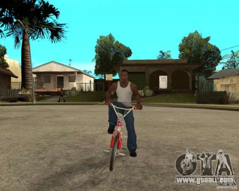 Skyway BMX for GTA San Andreas back view