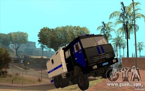 Kamaz Police for GTA San Andreas inner view