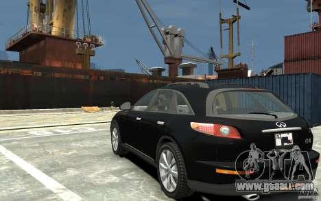 Infiniti FX45 for GTA 4 back left view