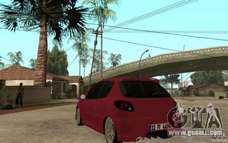 Peugeot 206 GTI CebeL Tuning for GTA San Andreas back left view