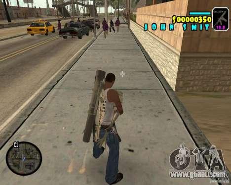 HUD Adidas for GTA San Andreas third screenshot