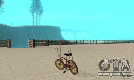 CUSTOM BIKES BIKE for GTA San Andreas back left view