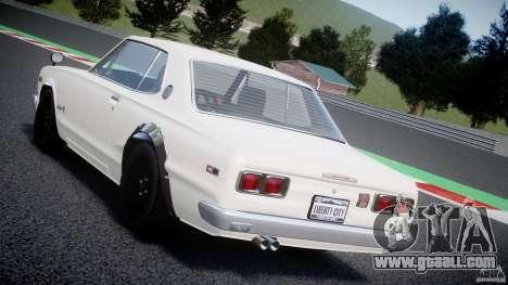 Nissan Skyline 2000 GT-R for GTA 4 interior