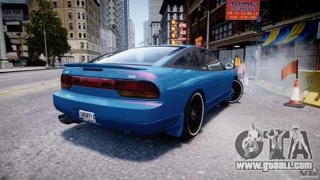 Nissan 240sx v1.0 for GTA 4 back left view