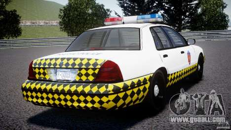 Ford Crown Victoria Karachi Traffic Police for GTA 4 back left view