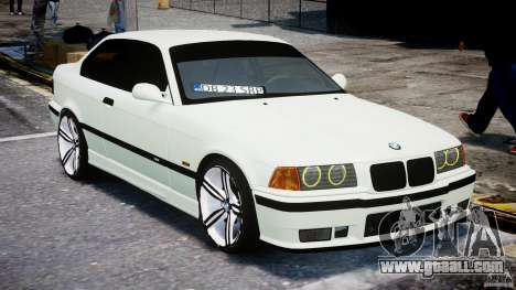 BMW e36 M3 for GTA 4 back view