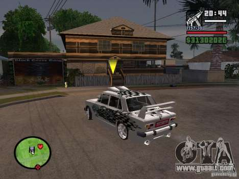 Vaz 2101 car tuning for GTA San Andreas right view