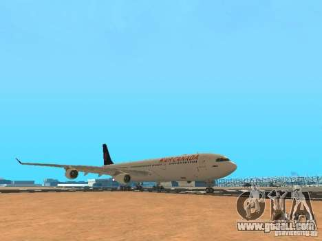 Airbus A340-300 Air Canada for GTA San Andreas left view