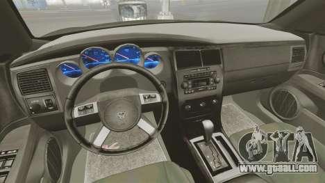 Dodge Charger RT Hemi FBI 2007 for GTA 4 back view