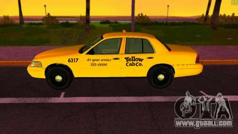 Ford Crown Victoria Taxi 2003 for GTA Vice City back left view